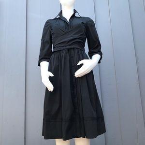 Robert Rodriguez Black Wrap Dress Size 6
